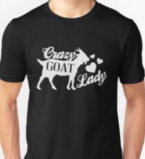 Crazy Goat Lady - Funny Humor Goat Lover  Unisex T-Shirt