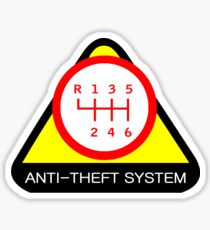 Anti-Theft System (Pattern 5) (light) Sticker