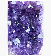 Raw Amethyst - Crystal Cluster Poster
