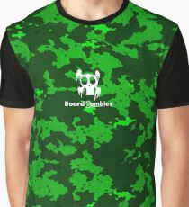 Zombie Snot Green Camouflage By BoardZombies Skate Art Design Graphic T-Shirt