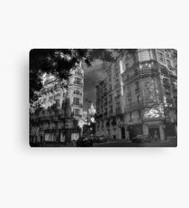 Paris - Montmartre Streetscape 003 BW Metal Print