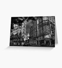 Paris - Montmartre Streetscape 003 BW Greeting Card