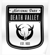 Death Valley National Park California Badge Poster