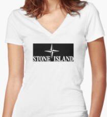 stone island Women's Fitted V-Neck T-Shirt