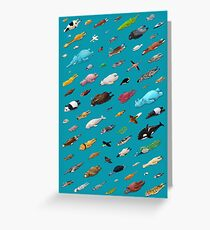 Sleeping Animals Greeting Card