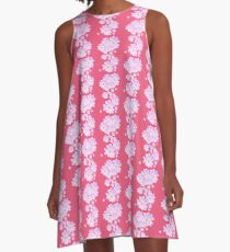 Pale Pink Flower A-Line Dress
