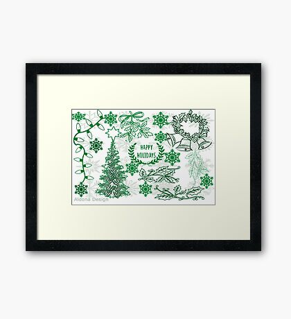 Christmas doodle (181 Views) Framed Print