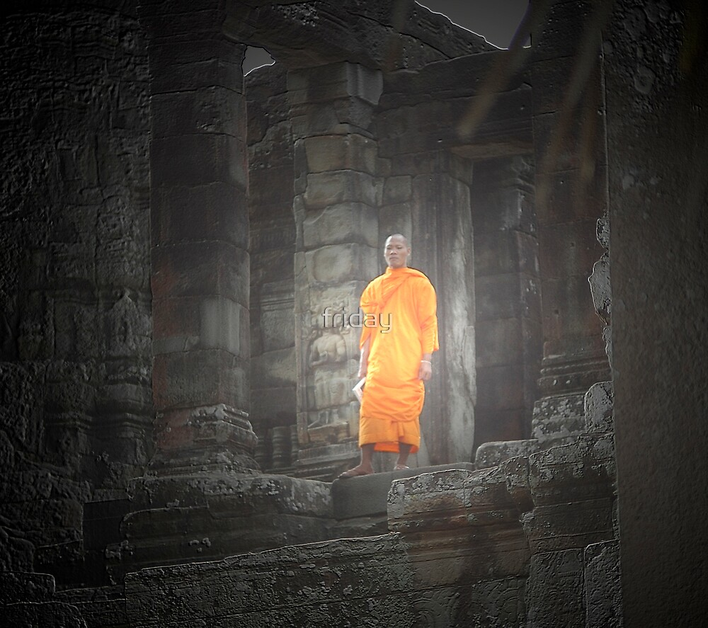 monk in angkor by friday