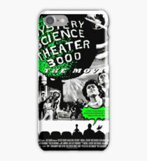 MST3K The Movie Black and White Poster iPhone Case/Skin