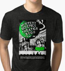 MST3K The Movie Black and White Poster Tri-blend T-Shirt