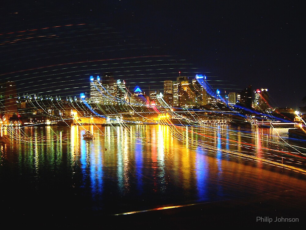 Light Lines - Darling Harbour, Sydney Australia by Philip Johnson