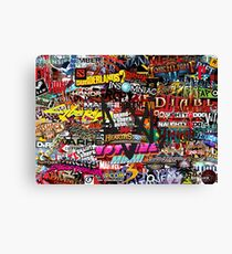 Videogame Sticker Bomb 01!!!! Canvas Print