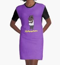 Hiphopopotamus Graphic T-Shirt Dress