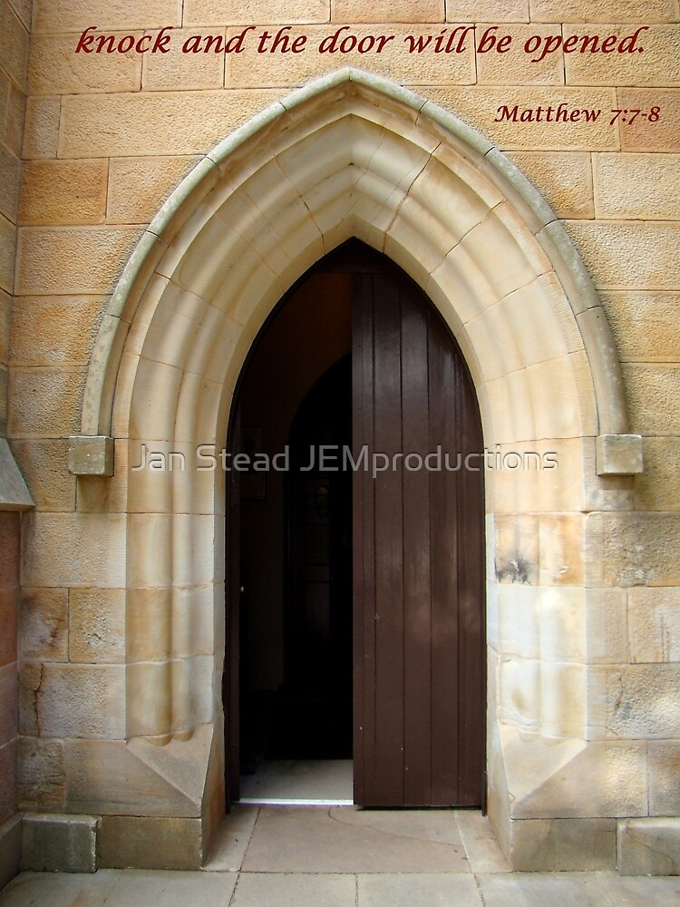 knock and the door will be opened by Jan Stead JEMproductions