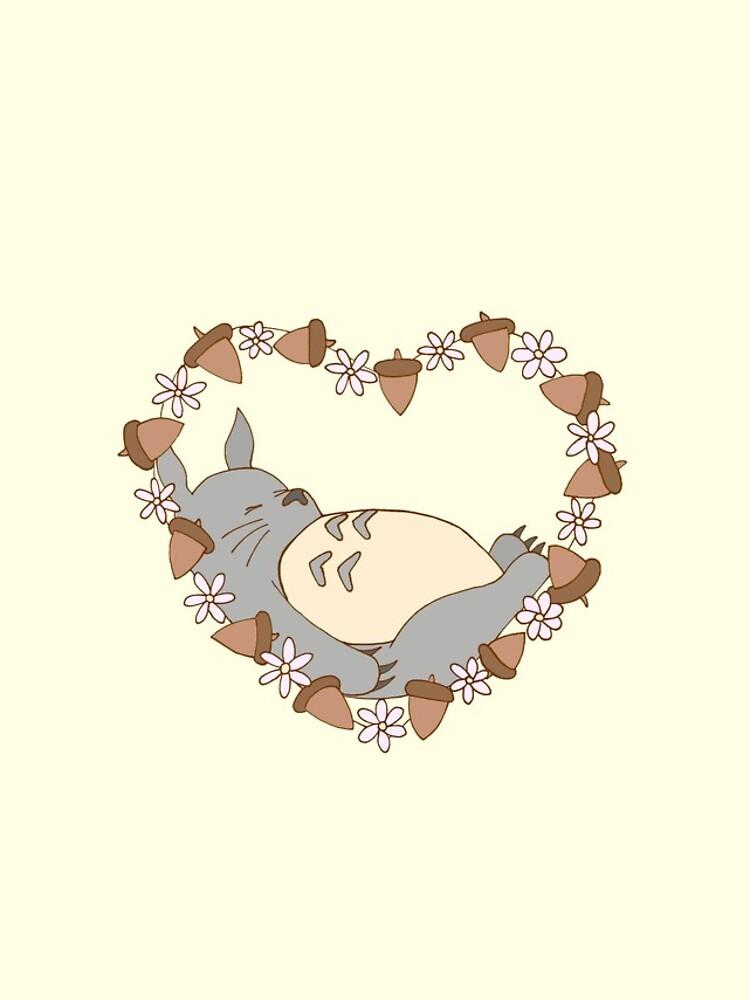 Sleeping Totoro by harrisrose