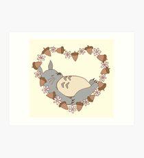 Sleeping Totoro Art Print