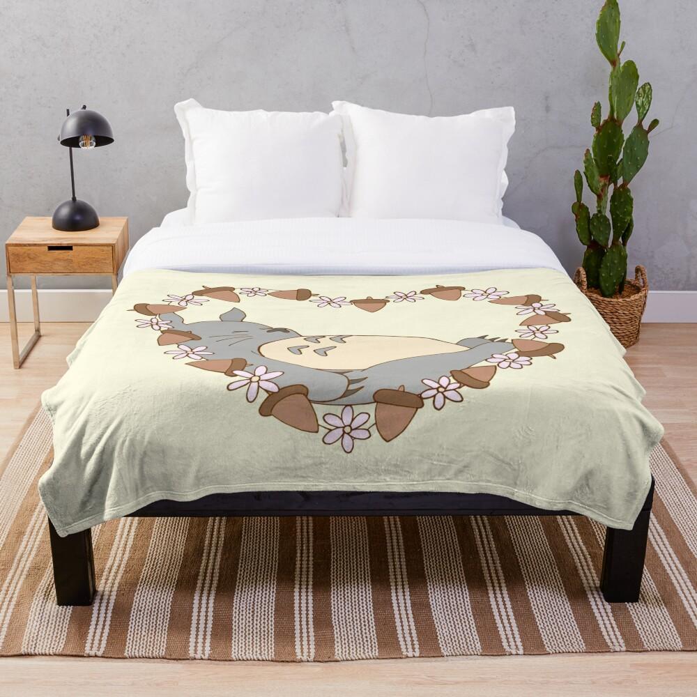 Sleeping Totoro Throw Blanket