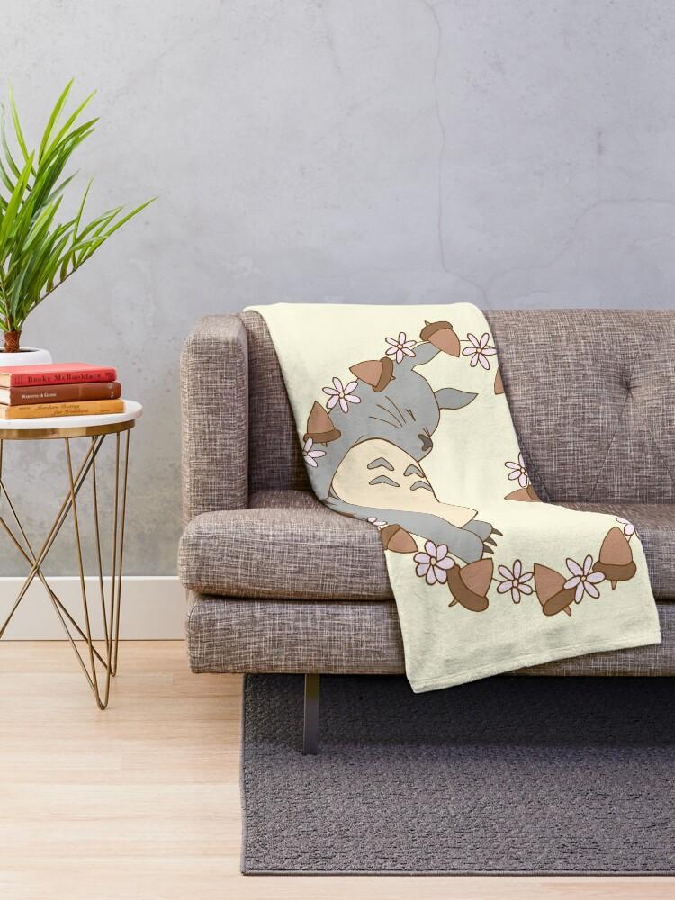 Alternate view of Sleeping Totoro Throw Blanket