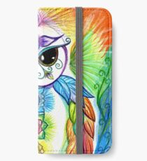 Chakra Owl-Yoga Owl by Sheridon Rayment iPhone Wallet/Case/Skin