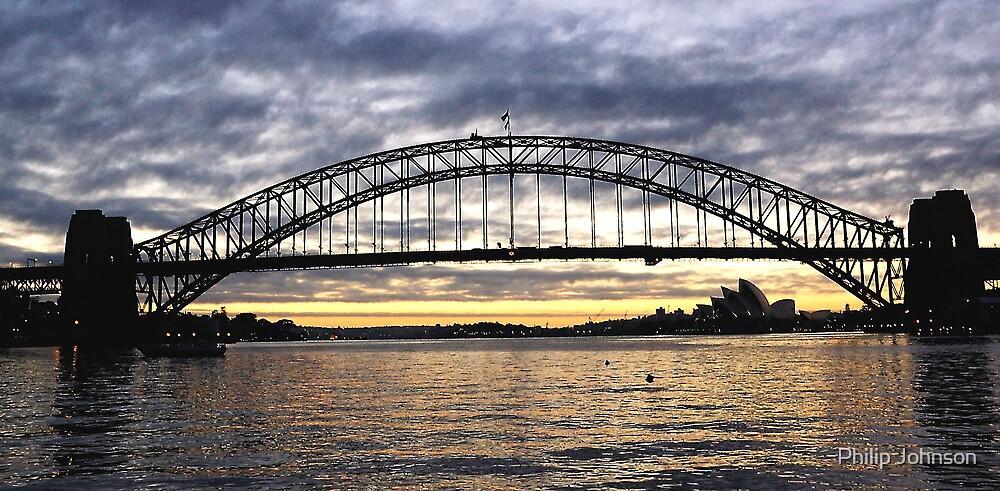 Shadows on the Horizon - Sydney Harbour by Philip Johnson