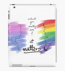 Johnlock LGBT pride (out version) iPad Case/Skin