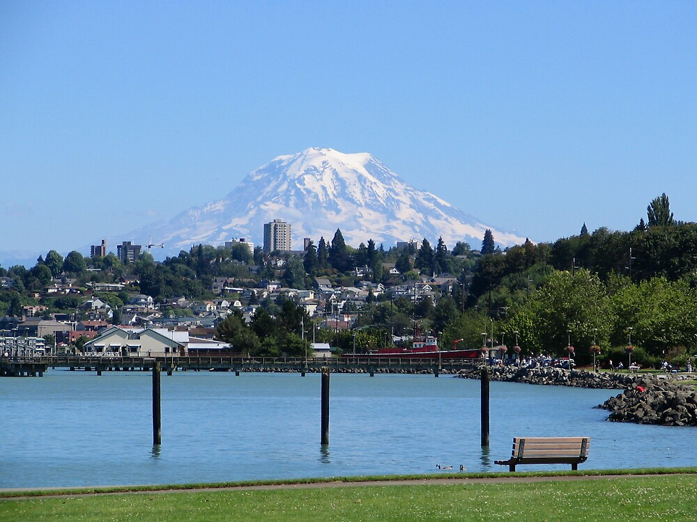 Mount Rainier, from Tacoma by MelindaUSA79