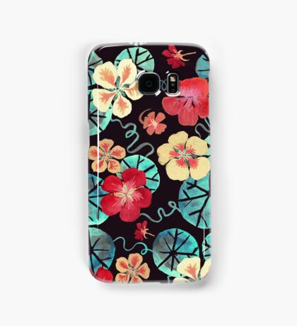 Watercolor Nasturtiums: In the Still of the Night Samsung Galaxy Case/Skin