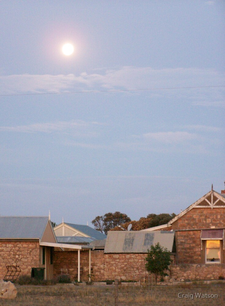 Sunset's Moonrise, Southern Yorke Peninsula, South Australia by Craig Watson