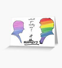 Johnlock LGBT pride (in version) Greeting Card