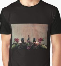 Candles, Wine, Grapes and More Grapes Graphic T-Shirt