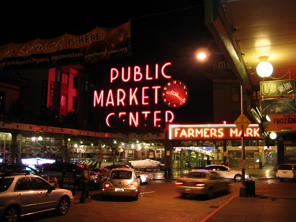 Pike Place at Night by MelindaUSA79