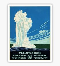 Yellow Stone Park - Vintage Travel Poster Sticker