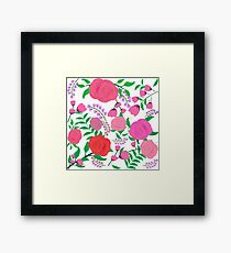 Bright and Bold Floral Print Framed Print
