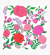 Bright and Bold Floral Print Photographic Print