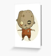 Crazy Little Zombie Greeting Card