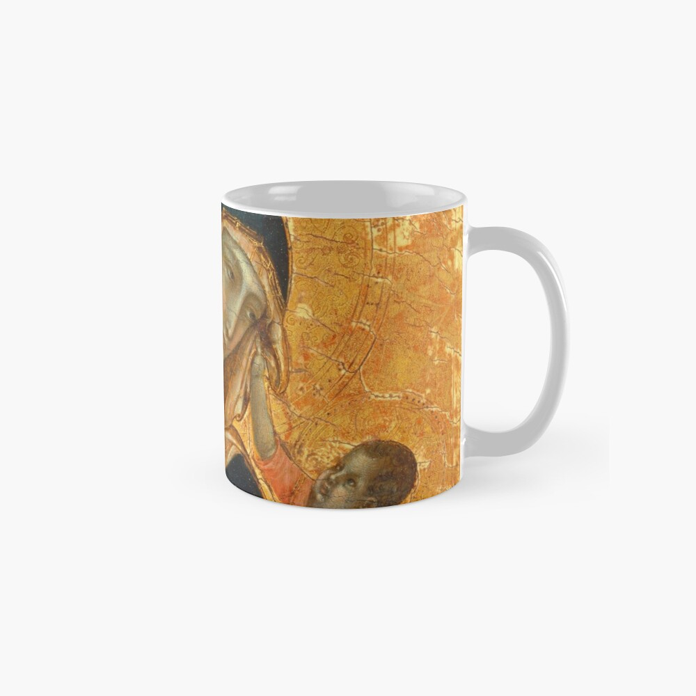 Madonna and Child medieval painting Mugs