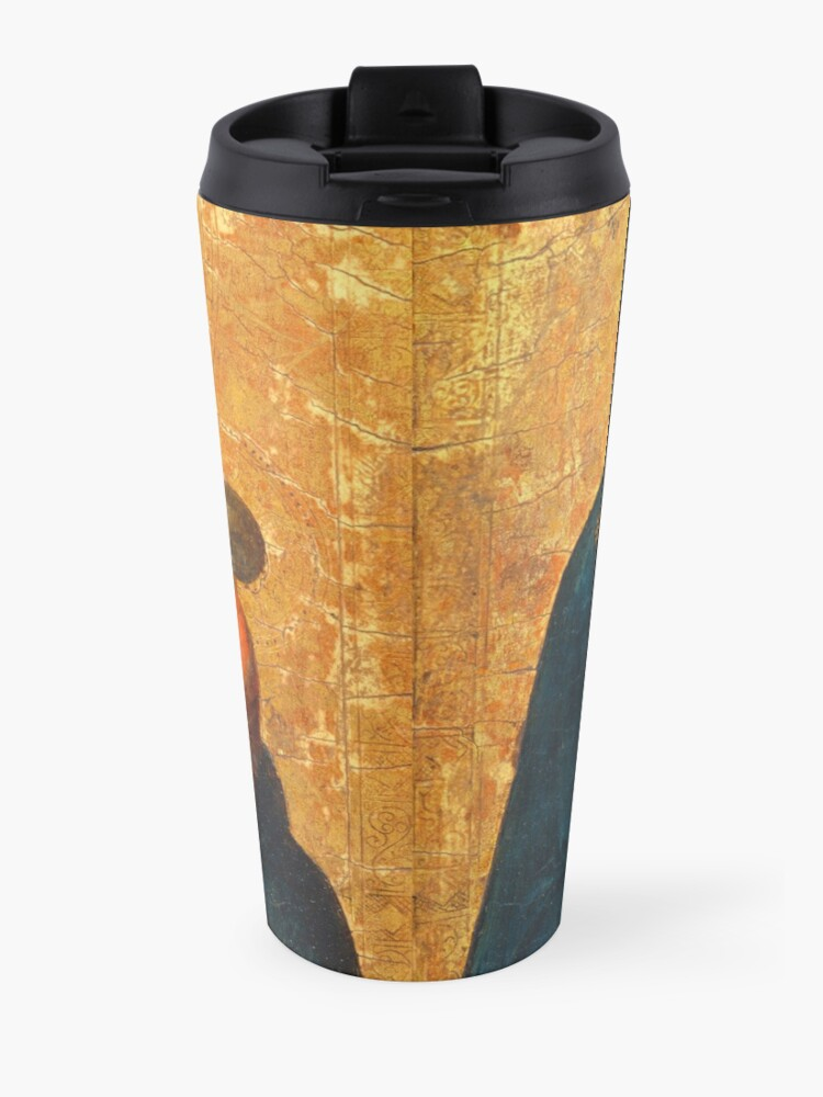 Alternate view of Madonna and Child medieval painting Travel Mug