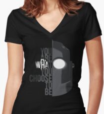 Wise Choice is necessary Women's Fitted V-Neck T-Shirt