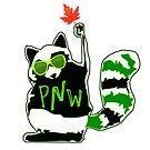 PNW Rebel Raccoon Maple Leaf by EvePenman