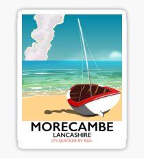 Morecambe, Lancashire Seaside travel poster  Sticker
