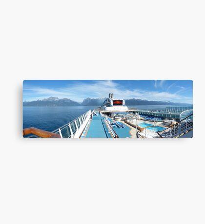 Leaving Milford Sound Canvas Print