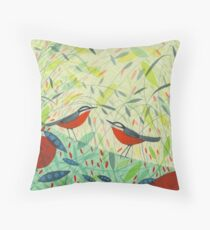 Nuthatches Throw Pillow