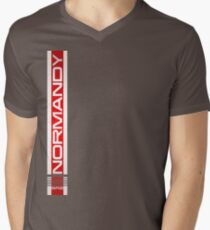 Normandy long Mens V-Neck T-Shirt