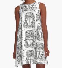 Vw Beetle Ink Tattoo A-Line Dress