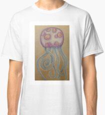 Jellyfish coloured pencil illustration Classic T-Shirt