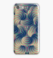 Green and Purple Trippy Abstract Psychedelic 3D Effect Fractal 02 iPhone Case/Skin