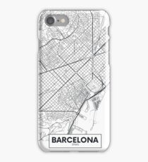 Vector poster map city Barcelona iPhone Case/Skin