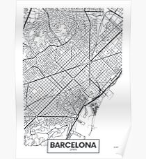 Vector poster map city Barcelona Poster