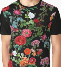 Botanical Pattern Graphic T-Shirt