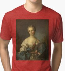 Jean-Marc Nattier - Portrait Of A Young Woman Tri-blend T-Shirt